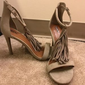 Tassel Fringe T-strap Heels